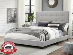 Full Size Florence Gray Bed Frame Bedroom Furniture Modern N