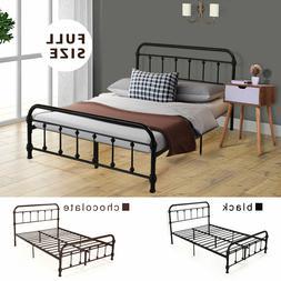 Full Size Metal Bed Frame Bedroom Set Platform Furniture 2 c