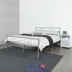 full size metal bed frame mattress foundation
