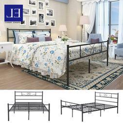 Full Size Metal Bed Frame Platform Bedroom Furniture Mattres