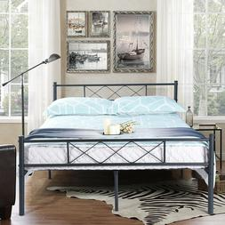 Full Size Metal Bed Frame Platform Bedroom Mattress Foundati