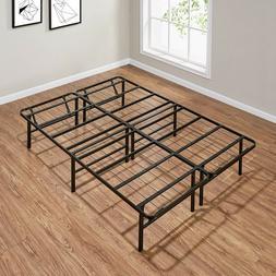 Full Size Platform Bed Frame Metal Heavy Duty 14 Inch Mattre