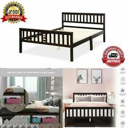 Full Size Platform Bed Frame Wood Heavy Duty Sturdy Concise