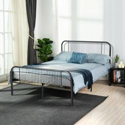 Full Size Platform Metal Bed Frame Mattress Foundation Bedro