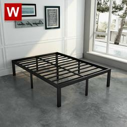 Full Steel Bed Frame - Heavy Duty Metal Platform Beds with S
