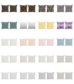 Ambesonne Geometric Design Cushion Cover Set of 2 for Couch