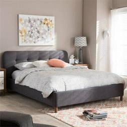 Baxton Studio Germaine Full Platform Bed in Dark Gray
