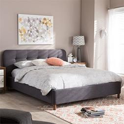 Baxton Studio Germaine Full Platform Bed in Dark Gray