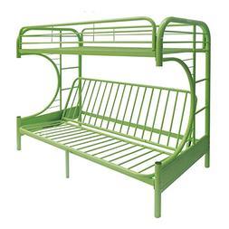 Acme Furniture 02091W-GR Eclipse Futon Bunk Bed, Twin/Full,