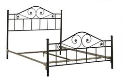 Hillsdale Harrison Metal Bed in Textured Black Finish-Full