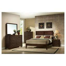 Modern Queen Size Wooden Platform Bed Frame with Headboard F