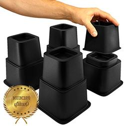 Home Intuition Heavy Duty Adjustable Bed Risers or Furniture