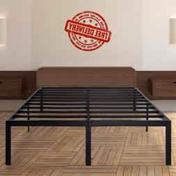 Heavy Duty Metal Platform Bed Frame King California King Que