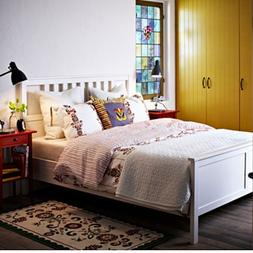 Ikea Hemnes Queen Bed Frame White Wood