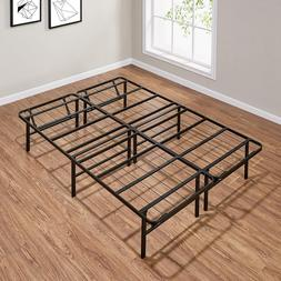 High Profile Patform Foldable Steel Bed Frame Bedroom Full s