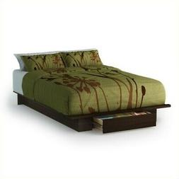 Holland Full/Queen Size Storage Platform Bed - Finish: Mocha