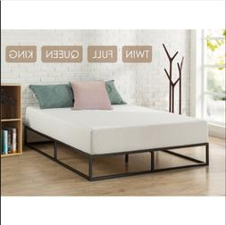 Home Hotel Simple Basic Iron Bed Queen King Twin Metal Platf