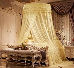 MAGILONA Home Lace Round Princess Bed Canopies Netting Large