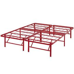 Modway Horizon Full Bed Frame In Red - Replaces Box Spring -