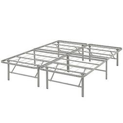 Modway Horizon Full Bed Frame in Gray - Replaces Box Spring