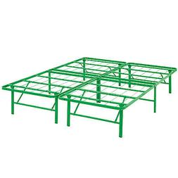 Modway Horizon Queen Bed Frame In Green - Replaces Box Sprin