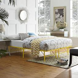 Modway Horizon Queen Bed Frame in Yellow - Replaces Box Spri