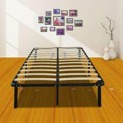 Hot Full Size Metal Mattress Foundation Platform Slats Wood