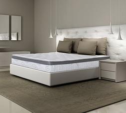 Olee Sleep 13SM01Q Q13Sm01Molvc Mattress, Queen, White, Grey