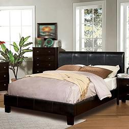 247SHOPATHOME IDF-7007EK Platform-Beds, King, Espresso