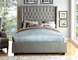 247SHOPATHOME IDF-7055Q Bed-Frames, Queen, Silver