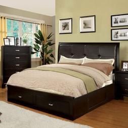 247SHOPATHOME IDF-7066EX-EK Platform-beds, King, Espresso