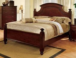 247SHOPATHOME Idf-7083Ck Bed-Frames, California King, Cherry