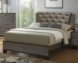247SHOPATHOME IDF-7867EK Bed-Frames, King, Gray New