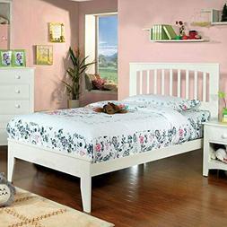 247SHOPATHOME IDF-7908WH-F Childrens-Bed-Frames Full White