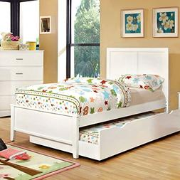 247SHOPATHOME IDF-7941WH-T Childrens-Bed-Frames, Twin, White