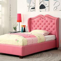 247SHOPATHOME IDF-7016PK-T Childrens-Bed-Frames, Twin, Pink