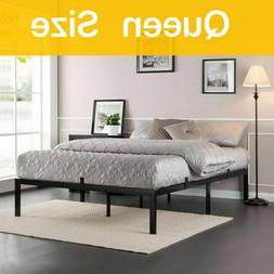 Iron Full Size Bed Frame Heavy Duty Bedroom Metal Flatform B