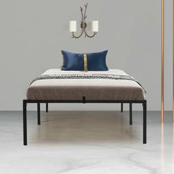 Iron Twin Size Bed Frame Heavy Duty Bedroom Metal Flatform B