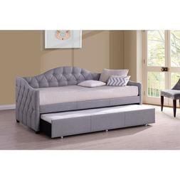 Jamie Daybed with Trundle - Gray Fabric,