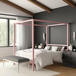 jasmine metal canopy modern bed frame multiple