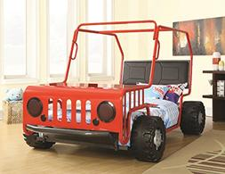 Hollywood Home Jeep Car Bed Red