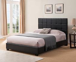 Mantua Kenville Black Upholstered Platform Bed – Easy to A