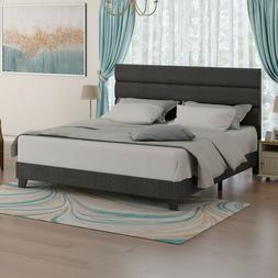 king bed frame upholstered platform bed