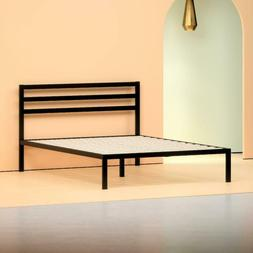"""King Size 38"""" Metal Bed Frame Platform Foundation Black Head"""