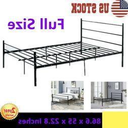 "Full Size Bed Frame, 22.8 "" High Heavy Duty Metal Mattress S"