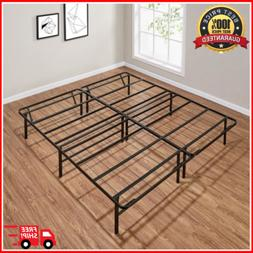 King Size Bed Frame Heavy Duty Steel Base Mattress Platform
