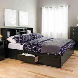 King Size Bedframe Platform Bedroom Furniture Storage Bed 6