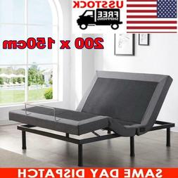 Queen Size Electric Bed Frame Z-ero Gravity Massage Remote P