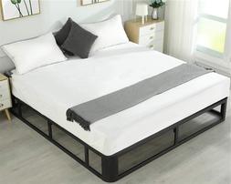 King Size Metal Bed Frame Steel Slat Mattress Foundation Eno