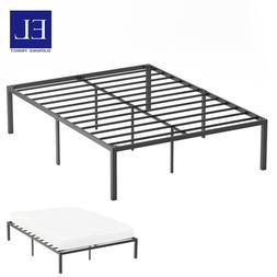 King Size Metal Platform Bed Frame Box Spring Replacement Ma